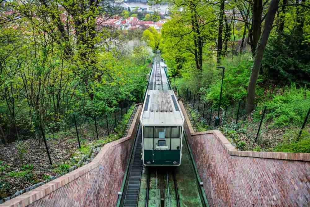 Petrin Hügel Seilbahn, Prague, Czech Republic