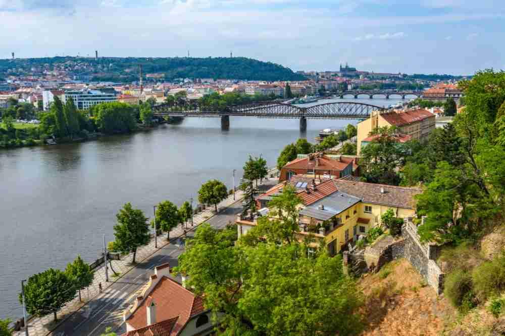Vysehrad Richtung Moldau, Prague, Czech Republic